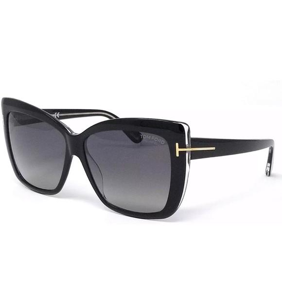 349583571be Tom Ford IRINA TF390 03D Polarized Black Gold Grey